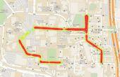 Zuordnen von Straßenlaterne Beleuchtungsstärke