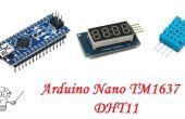 Arduino Nano TM1637 4-stellige Anzeige DHT11 Temperatur Feuchte-Sensor