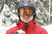 Hände frei in einem Ski Jacke integriert
