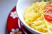 Wie man Spaghetti-Kürbis kochen | Einfach vegane & glutenfreie Rezept