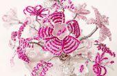Draht und Perlen Blumen