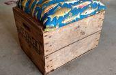 Versand Holzkiste in rollenden Sitz mit Speicher zurückgefordert