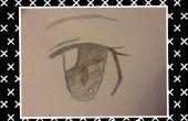 Gewusst wie: zeichnen Sie ein Anime Auge