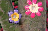 Machen Sie eine Blume aus einer Plastikflasche