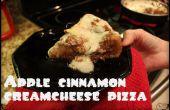 Tiefe Teller Apfel-Zimt-Dessert-Pizza
