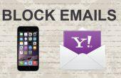 Blockieren von e-Mails auf Yahoo Mobile App