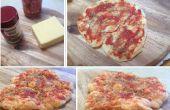 Knusprige Käse Basis Mikrowelle Pizza
