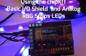 ChipKIT Basic i/o-Shield mit Analog RGB Streifen LEDs mit