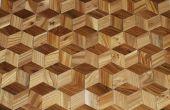 Ein Hartholz-Fußboden, die von Ihren eigenen Bäumen 3D aussieht machen