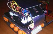 Solar betriebene Taschenlampe gesteuert Mini-Tank Roboter!