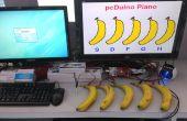 Ein Klavier mit Banane als Tastatur angetrieben durch PcDuino