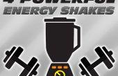 4 kraftvolle Energie-Shakes