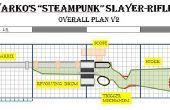 Steampunk / Warcraft Kampf Jagd Gewehr mit Revolver-Stil Ammo Drum