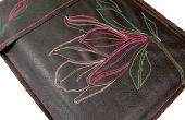 Blume-genähte Laptop Cover