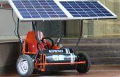 Solarbetriebene gehen Kart