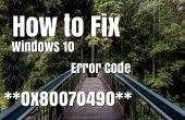 How to Fix Windows 10-Fehlercode 0x80070490