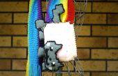 Nyan Cat-Schal gestrickt