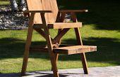 Rettungsschwimmer Stuhl aus recyceltem Holz