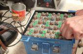 Batteriewechsel NiCad Flugzeug mit neuen Trockenbatterien!
