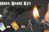 Notfall hausgemachte Spare Key mit TicTac Flasche oder Kreditkarte In 2 Minuten