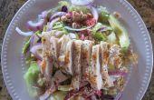 Asiatische Hähnchen-Salat mit Koriander Limetten Dressing