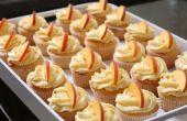 Pfirsich-Muffins mit Peach Cream Cheese Frosting