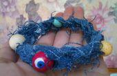 Sommer Denim Perlen Armband
