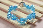 Einfach Perlen Armband Muster - wie erstelle ich einen Kristall Perlen Armband mit einem Knebelverschluss