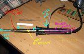 DIY Heißluft Lötkolben mit ca. 2-3 Ampere DC 12-18volts