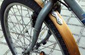 Fahrrad-Holz-Kotflügel