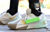 Strom erzeugenden Schuhe - erzeugen Strom durch Wandern (Konzept)