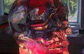 Schädel Lava Licht aus alten Laterne gemacht