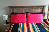 Einführung: Queen Bett Holz Kopfteil