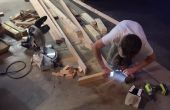 DIY-Hering Knochen gemusterten Palette Bank!