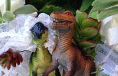 Sie beide lieben einander und Dinosaurier!? Erstellen Sie Ihre Hochzeitstorte Jurassic Stil mit Sukkulenten und Dinosaurier!