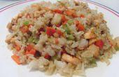 Wie machen Sie Meeresfrüchte gebratener Reis
