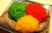 Farbige Nudeln zum Essen!