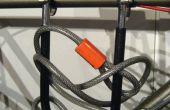 Einfaches Fahrrad Bügelschloss Halter