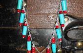 Türkis und Koralle Halskette