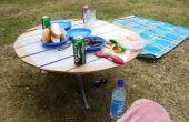 Camping/Picknick-Tisch hochklappen