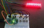 Stoppuhr & Rundenzeit mit Arduino Nano und Maxi 7219 LED-Anzeige (8 Dig X 7 Seg)