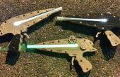 Einfach Steam Punk-Laserpistole, die aufleuchtet,