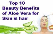Top 10 Schönheit Vorteile der Aloe Vera für die Haut & Haar