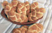 Knoblauch und Thymian geflochten, Brot