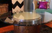 Wie erstelle ich eine glühende Couchtisch aus recycelten Drum