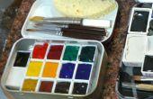 Bewegliche Palette Altoid Tin Aquarell Set