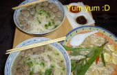 Pho Bo Vien (vietnamesische Frikadellen Suppe meinen Weg)