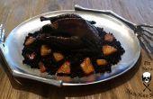 Geflügel die meisten Foul - schwarz Silkie Brathähnchen mit geräucherter Paprika reiben