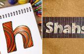 Wie erstelle ich personalisierte Namensschilder mit Quilling Papierstreifen | DIY-Quilled Papier schreiben | Inneneinrichtungen