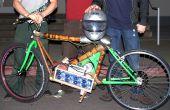 Leichte Elektro Motorrad mit Bambusrahmen